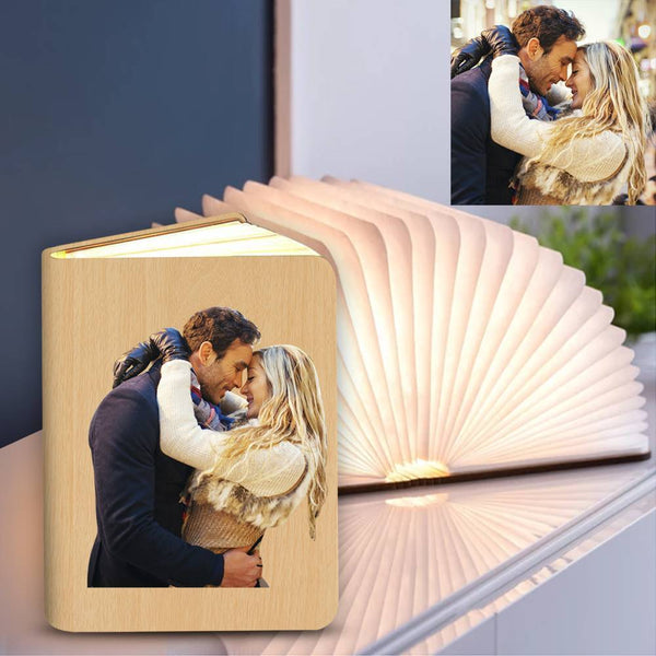 Personalized Couple Gift Photo Lamp,  Creative Book Lamp Desk -  Colorful