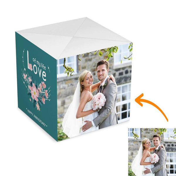 Personalized Happy Anniversary Surprise, Amazing Surprise Box Photo Surprise Explosion Bounce Box