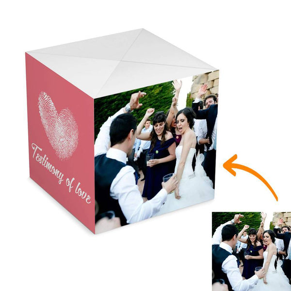 Custom DIY Testimony of Love Surprise, Amazing Surprise Box Photo Surprise Explosion Bounce Box