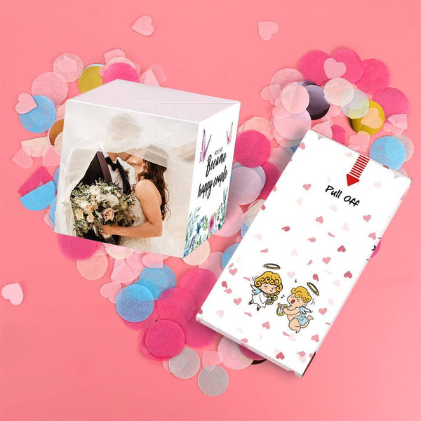Personalized DIY Happy Couple Forever Surprise, Creative Idea Box Photo Surprise Explosion Bounce Box