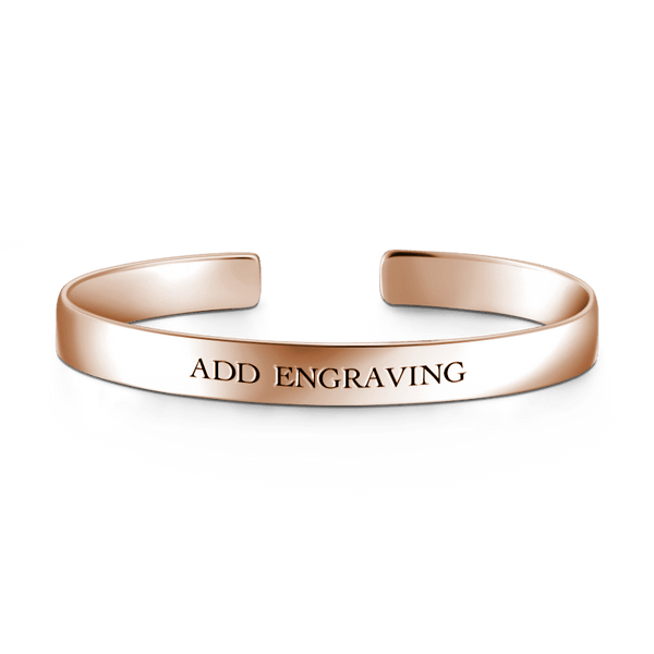 Engravable Cuff Bangle 14K Gold Plated -  Love Name Necklace