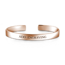 Engravable Cuff Bangle Silver -  Love Name Necklace