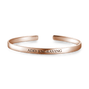 Rose Gold Engravable Cuff Bangle -  Love Name Necklace