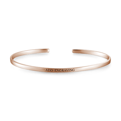 Customizable Bangle Rose Gold -  Love Name Necklace