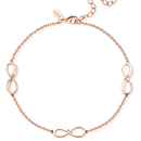 Custom Engraved Infinity Name Anklet Rose Gold