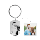 Photo Engraved Tag Key Chain Stainless Steel