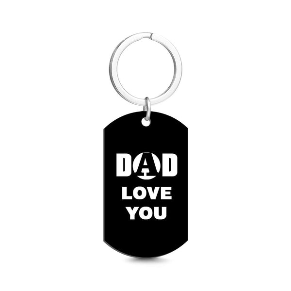 Personalized Photo Engraved Keychain for Dad