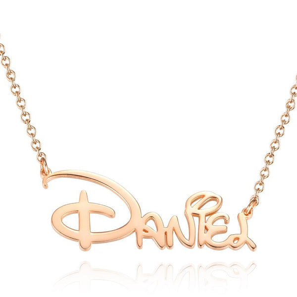 Disney Name Necklace Rose Gold Plated, Best Gift