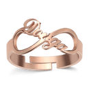Infinity Name Ring Rose Gold Plated Silver