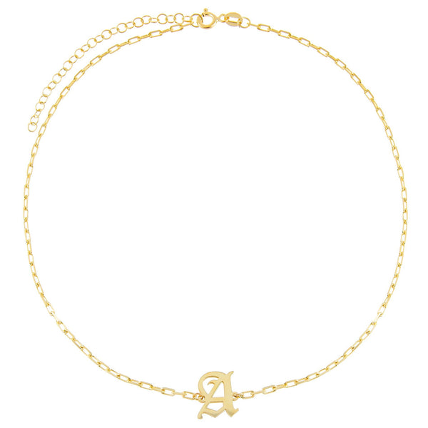 Old English Initial Open Link Choker
