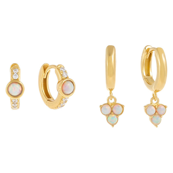 Opal Dangling Earring Combo Set