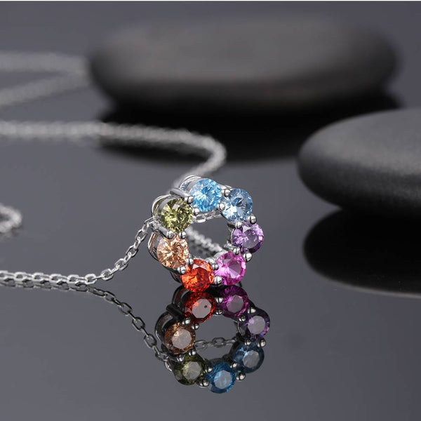 Exquisite Personality Flower Necklace Silver Plated