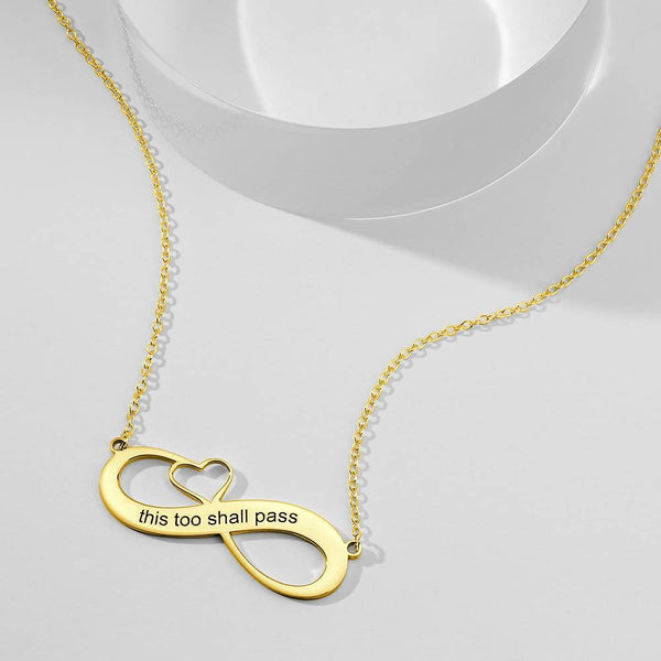 Engraved Name Necklace 14k Gold Plated Silver