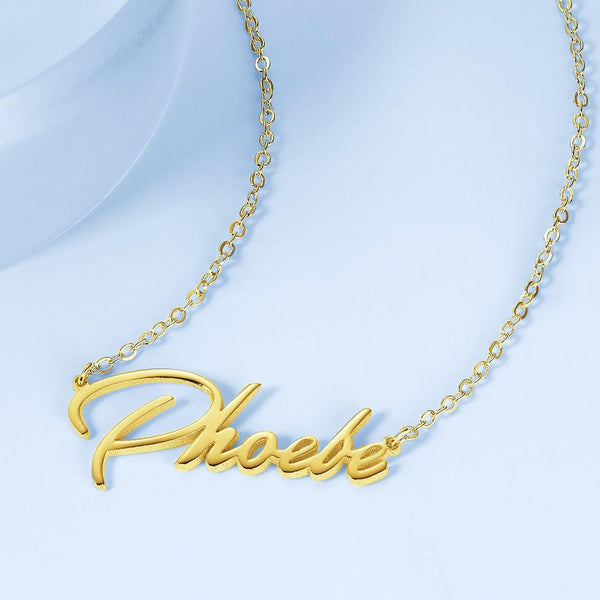 Custom Siver Name Necklace Elegant Style Name Necklace