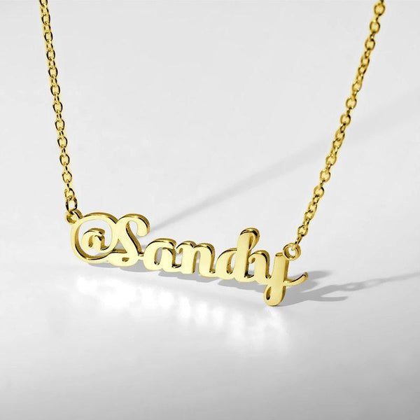 @Name Sign Necklace Gold Plated Silver -  Love Name Necklace