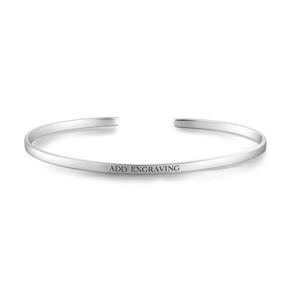 Customizable Bangle Silver For Her -  Love Name Necklace