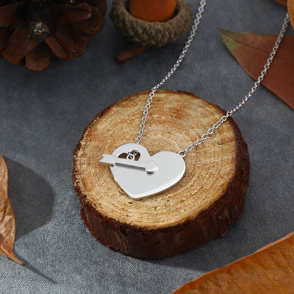 Engraved Hang Tag Necklace Silver