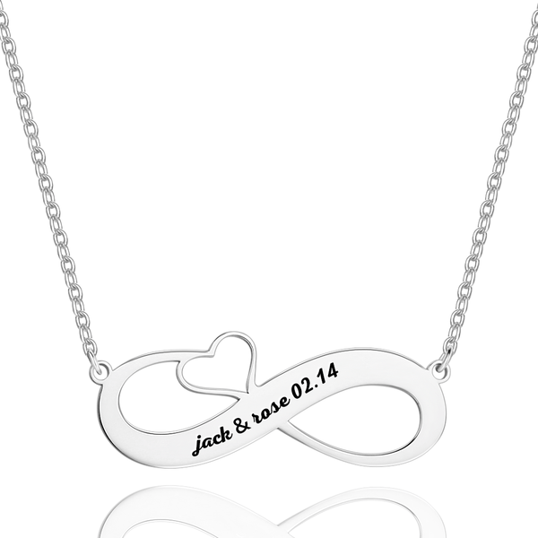 Engraved Name Necklace Silver