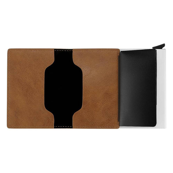 Long Style Photo name card holder - Yellow Leather