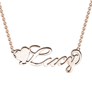 Love Heart Name Necklace Rose Gold -  Love Name Necklace