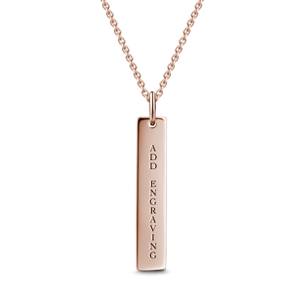 Engravable Bar Necklace Silver -  Love Name Necklace