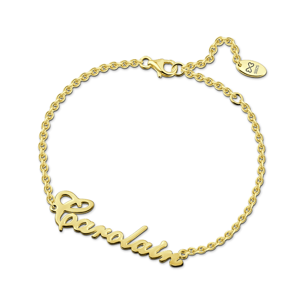 Carrie Style Rose Gold Name Bracelet -  Love Name Necklace