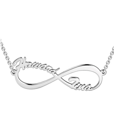 Infinity Name Necklace Silver For Her