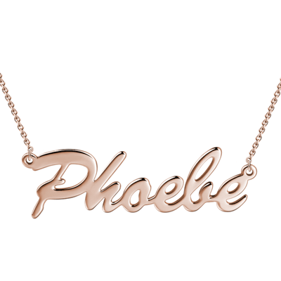 Custom Name Necklace Silver -  Love Name Necklace