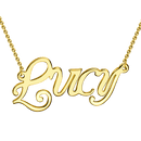Personalized Name Necklace 14K Gold Plated -  Love Name Necklace