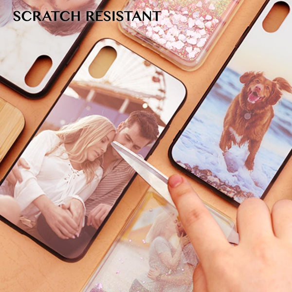 Galaxy S8 Custom Live Love Laugh Glass Surface Photo Phone Case