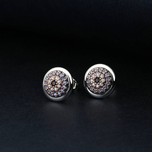 Devil's Eye Earrings in Platinum  Plated