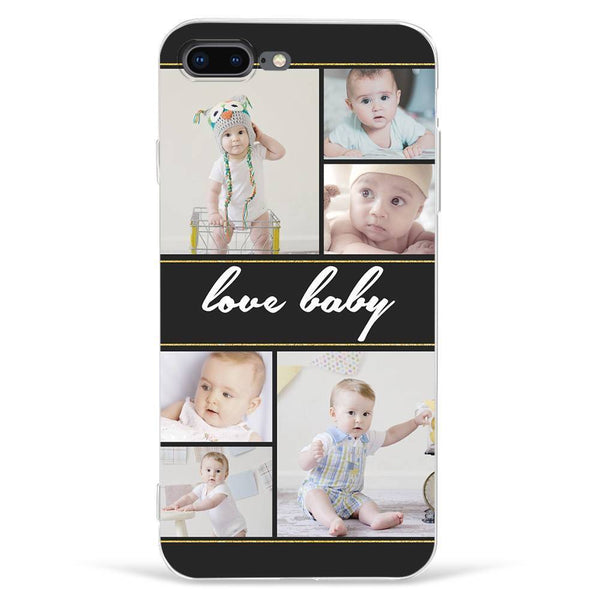iPhone7p/8p Custom Photo Phone Case - 6 Pictures with Name