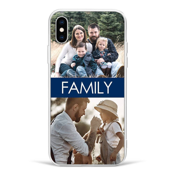iPhoneX Custom Photo Phone Case - 2 Pictures with Name