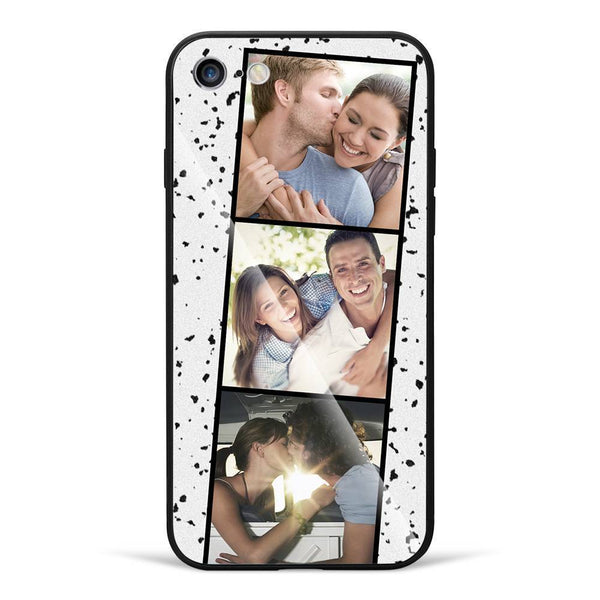 iPhone7/8 Custom Glass Surface Photo Phone Case - 3 Pictures