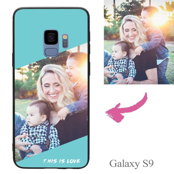 Galaxy S9 Custom This Is Love Photo Phone Case