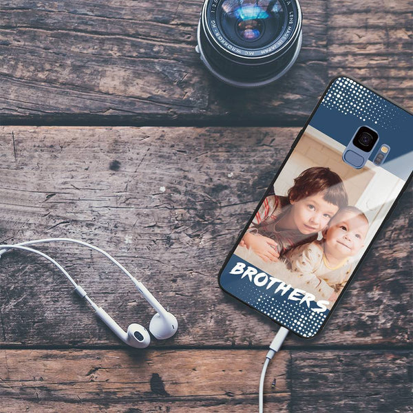 Galaxy S9 Custom Brothers Glass Surface Photo Phone Case