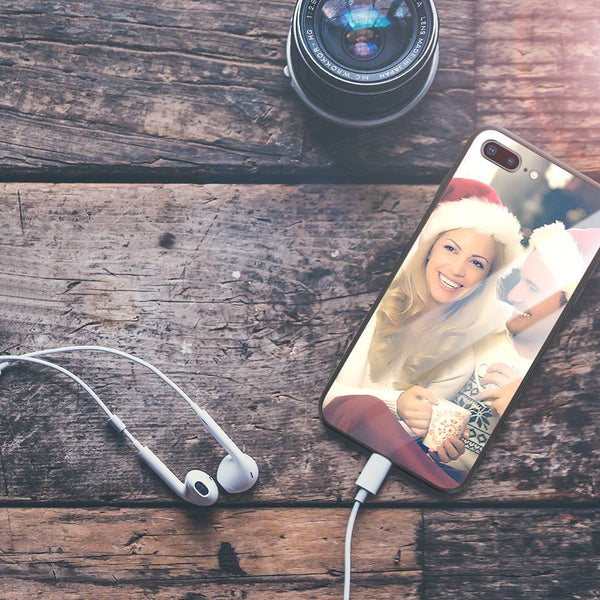 Graduation Gifts - Custom Photo Phone Case Glass Surface for All iPhone Types