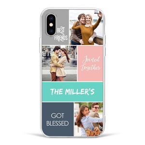iPhoneX Custom Photo Phone Case - 3 Pictures with Name