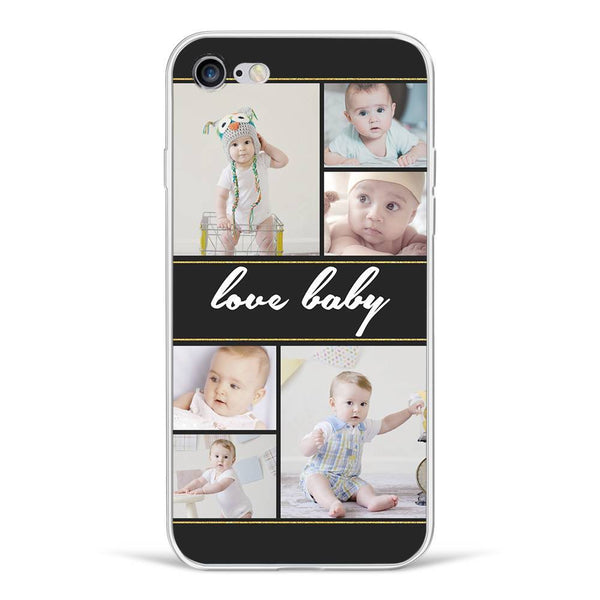 iPhone7/8 Custom Photo Phone Case - 6 Pictures with Name