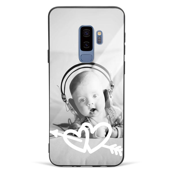 Galaxy S9 Plus Custom Love Glass Surface Photo Phone Case