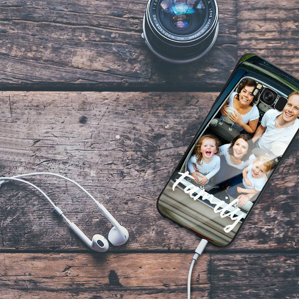 Galaxy S8 Plus Custom We Are Family Glass Surface Photo Phone Case