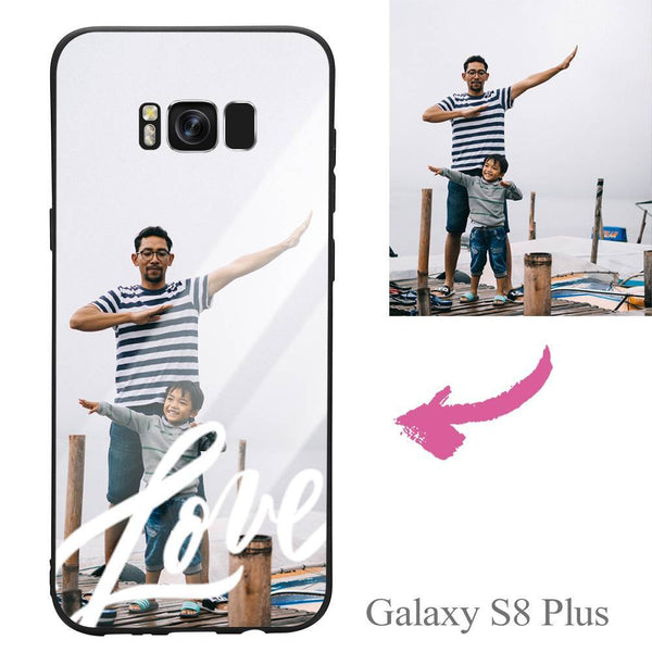 Galaxy S8 Plus Custom Love Glass Surface Photo Phone Case