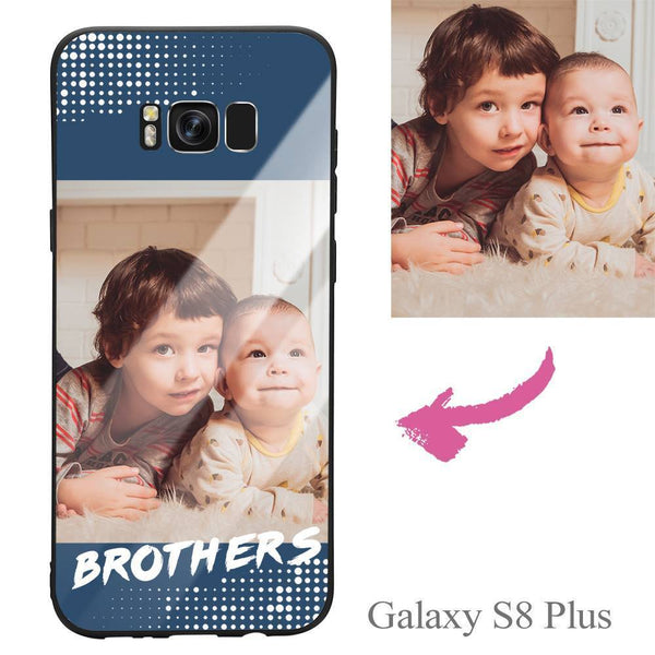 Galaxy S8 Plus Custom Brothers Glass Surface Photo Phone Case