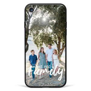 "iPhone7/8 Custom ""We Are Family"" Glass Surface Photo Phone Case"