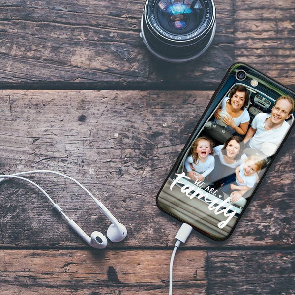 "iPhone6/6s Custom ""We Are Family"" Glass Surface Photo Phone Case"