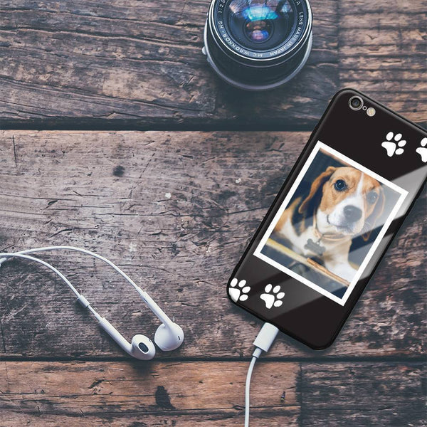 iPhone6p/6sp Custom Dog Glass Surface Photo Phone Case