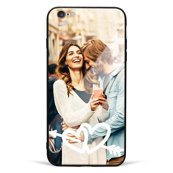 iPhone6p/6sp Custom Love Glass Surface Photo Phone Case