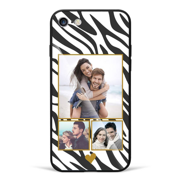 iPhone7/8 Custom Photo Protective Phone Case - Glass Surface - 3 Pictures