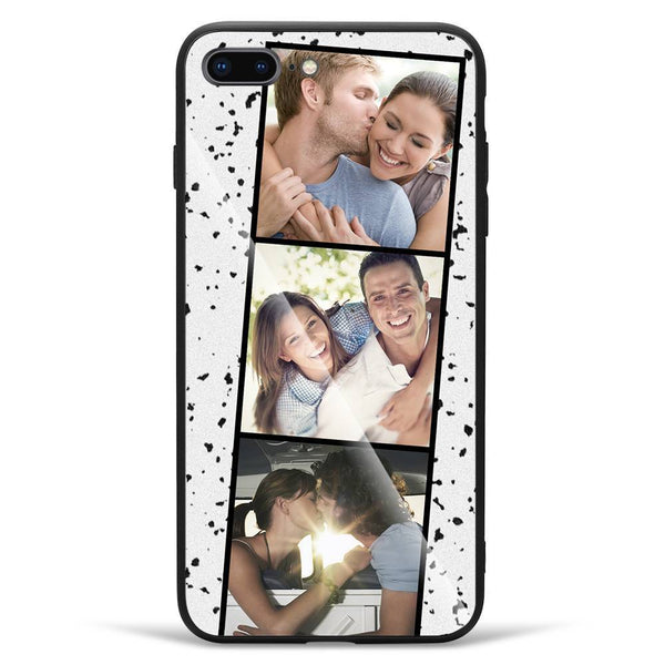 iPhone7p/8p Custom Photo Protective Phone Case - Glass Surface - 3 Pictures