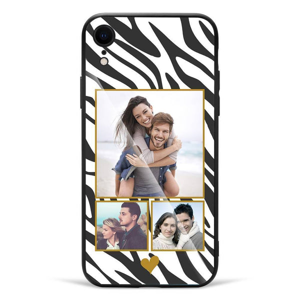 iPhoneXr Custom Photo Protective Phone Case - Glass Surface - 3 Pictures